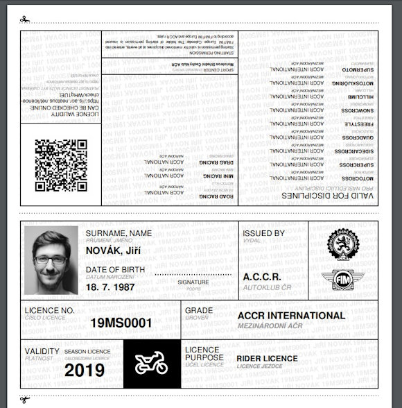 PDF licence - ukázka